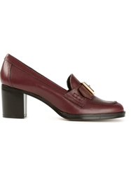 Avril Gau 'Bonnat' High Heel Loafers Pink And Purple