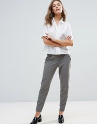 Y.A.S Clady Spring Tailored Trousers Grey Cream