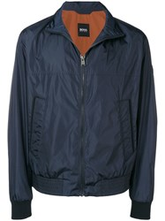 Hugo Boss Zip Front Windbreaker Blue