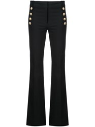 Derek Lam 10 Crosby Crosby Flare Trouser With Sailor Buttons Blue