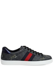 Gucci New Ace Coated Tiger Gg Supreme Sneakers Black