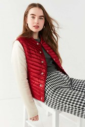 Urban Outfitters Uo Polly Quilted Puffer Jacket Maroon