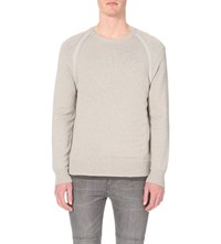 Allsaints Stadum Marl Finish Knitted Jumper Taupe Marl