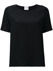 Forte Forte My Top Short Sleeve T Shirt Women Silk 1 Black