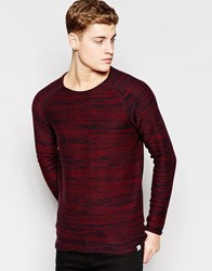 Jack And Jones Jack And Jones Crew Neck Knitted Jumper Red