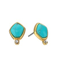 Lauren Ralph Lauren Turquoise And Caicos Stone Stud Earrings Gold Turquoise Earring Multi