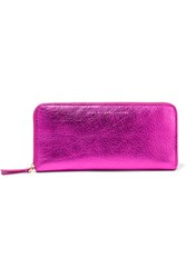 Marc By Marc Jacobs Metallic Leather Wallet Magenta