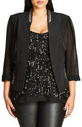 City Chic Plus Size Women's Stud Magic Jacket