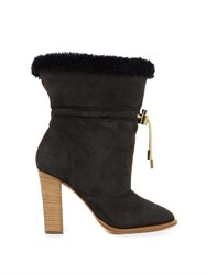 Chloe Drawstring Sheepskin Ankle Boots