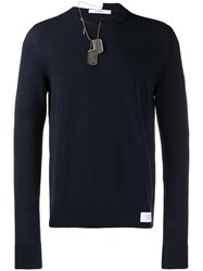 Givenchy Dog Tag Sweater Blue