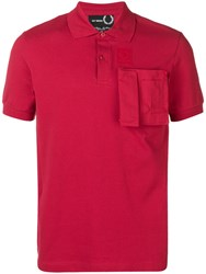 Fred Perry Raf Simons X Patch Pocket Polo T Red