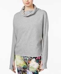 Rachel Roy Terry Thumbhole Sweater Only At Macy's Heather Gray