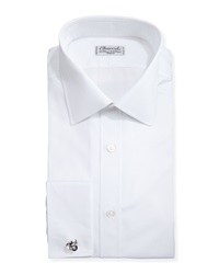 Charvet Solid Poplin French Cuff Shirt White