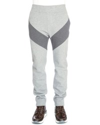 Givenchy Single Stripe Pull On Sweatpants Dark Gray
