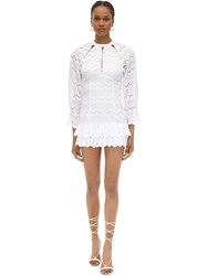 Alice Mccall Cotton Eyelet Lace Mini Dress White