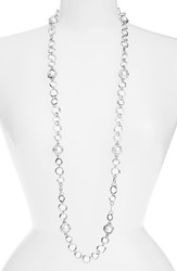 Women's Karine Sultan Long Faux Pearl Necklace Silver