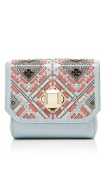 Elie Saab Interlaced Leather Box Clutch Multi