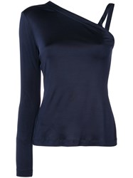 Yigal Azrouel One Shoulder Top Blue