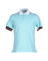 Kiton Topwear Polo Shirts Men Sky Blue