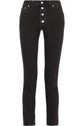 Balenciaga Tube High Rise Straight Leg Jeans Dark Gray