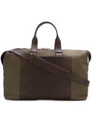 Troubadour Fabric And Leather Weekender Green