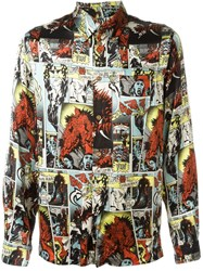 Jean Paul Gaultier Vintage Comic Print Shirt Multicolour