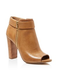 Splendid Jojo Open Toe High Heel Booties Tan