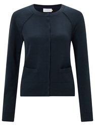 John Lewis Collection Weekend By Cotton Cardigan Navy