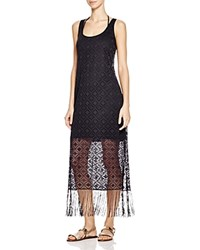 Profile By Gottex Charleston Lace Dress Swim Cover Up Black