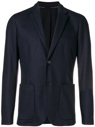 Paolo Pecora Classic Fitted Blazer Blue