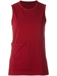 Joseph Pocket Detail Tank Top Red