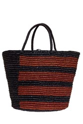 Sensi Studio Striped Beach Basket Bag