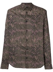Roberto Cavalli Printed Shirt Brown