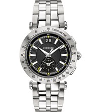 Versace Vah01 0016 V Race Stainless Steel Watch Black