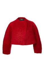 Paule Ka Red Wool Bouclette Jacket