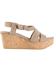 Coclico Strappy Wedge Sandals Nude And Neutrals