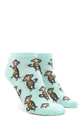 Forever 21 Monkey Ankle Socks Mint Multi