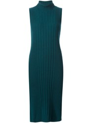 Maison Martin Margiela Ribbed Sweater Dress Green
