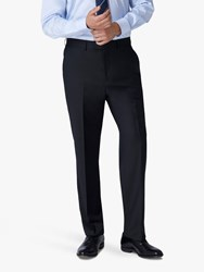 Jaeger 120S Wool Twill Regular Fit Suit Trousers Black