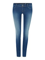 Salsa Wonder Push Up Skinny Jeans Denim Mid Wash