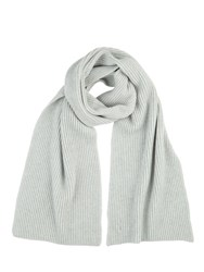 Johnstons Of Elgin Cashmere Ribbed Scarf Grey
