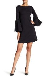 Nanette Nanette Lepore Bell Sleeve Boatneck Dress Black