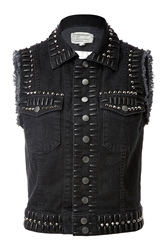 Current Elliott Stretch Denim Studded Vest