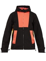 Wales Bonner Panelled Technical Hooded Jacket Black Multi