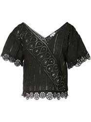 Opening Ceremony Broderie Anglaise Blouse Women Cotton 4 Black