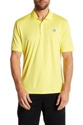 Adidas Branded Performance Solid Polo Yellow