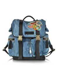 Dsquared2 Denim Patch Backpack Blue