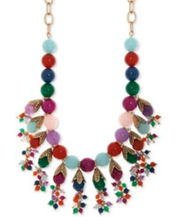 Lonna And Lilly Gold Tone Multi Stone Beaded Statement Necklace 22 3 Extender