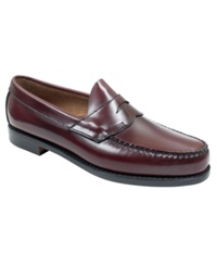Bass Logan Weejuns Flat Strap Penny Loafers Men's Shoes Burgundy