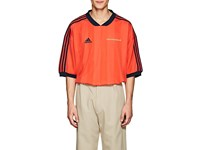 Gosha Rubchinskiy Logo Striped Oversized Jersey Red